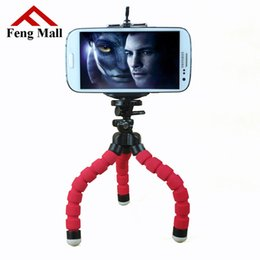 Octopus Flexible Tripod Canada - Wholesale-Stand tripod Flexible Octopus tripod Bracket Selfie for iphone Car Phone Holder for Mobile Phone Camera Monopod Accessories