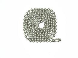 30 Inç Paslanmaz Çelik # 8 (4mm) Top Zincir Kolye 10 Sayısı boncuk zincir kolye Mücevher yapımı diy zincir indirimde