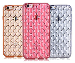 Cell Phone Cases For Cheap Canada - Cheap Price Crystal Diamond Rhombus Case Transparent Silicone TPU Back Cover Diamond Pattern Soft Cell Phone Cases for Iphone6 Iphone6plus
