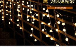 4m * 0.5m Fur Ball LED Lantern String Birthday Supplies Furnished Balcony  Decorated Outdoor Patio Waterproof Flash Patio Supplies On Sale