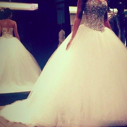 Chinese sexy Crystal dress online shopping - 2016 Vintage Luxury Ball Gown Wedding Dresses Long Tulle Party Importi Chinese DHgate Vip Link Wedding Gowns