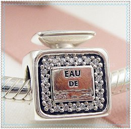 $enCountryForm.capitalKeyWord Australia - 2016 New Spring S925 Sterling Silver Signature Scent Charm Bead with Clear Cz Fits European Jewelry Bracelets