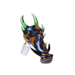 China Smoking Dogo Wholesale Dragon Glass Bowls 14.4mm 18.8mm for Glass Water Pipes and Bongs Glass Bowl with Cool Color cheap cool bowls bongs suppliers