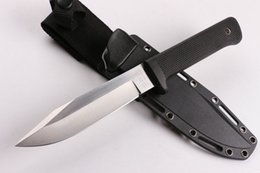 9cr18mov blade online shopping - Cold Steel SRK Survival Straight Knife Cr18Mov Drop Point Satin Blade Kraton Handle Outdoor Survival Camping knives