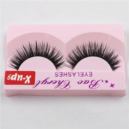 X Long Hair Canada - Eyelashes Black False Eyelashes Handmade Natural Long Thick Beauty Eyes Makeup Cosmetic Tools Fake Eye Lashes Extensions X-up9 Free Ship DHL