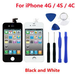 $enCountryForm.capitalKeyWord NZ - iPhone 4 CDMA Replacement White Black Apple iPhone 4GSM 4S LCD Display Touch Screen Digitizer Full Assembly Repair Parts with Free Tool Kit