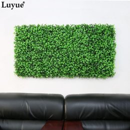 Luyue Green Artificial Lawn Plastic Fake Grasses Decorative Plant Wall  Wholesale Garden Office Home Decor