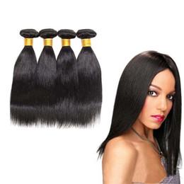$enCountryForm.capitalKeyWord NZ - Peruvian hair Straight remy Human Hair Extensions 4pcs lot Peruvian Virgin Straight Hair Weave Bundles 100% Natural Human Hair Factory Price