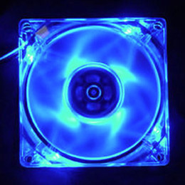 Colorful Cooling Fans NZ - 12025 12cm HELE Brushless PC Computer Clear Case Quad 4 Blue RED Colorful LED Light 9-Blade CPU Cooling Fan 12V Wholesale