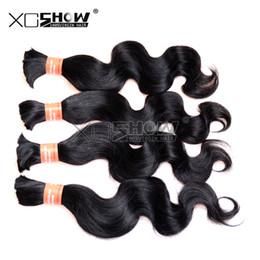 Bulks Hair For Cheap Canada - Big discount Indian body wave hair 10pcs lot Ali Moda Cheap indian bulk hair for braiding human no weft 8-30inch