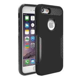 Wholesale alcatel resale online - For Alcatel MetroPCS Folio Hybrid TPU PC in Armor Carbon Fiber Captain Case Shock Proof Cases A
