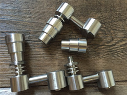 Vente en gros Mâle / Femelle 4 en 1 Gr2 Titane Banger Titane sans ongles Concentré fonctionnel Accessoires pour bongs en verre dab rigs Haute Qualité