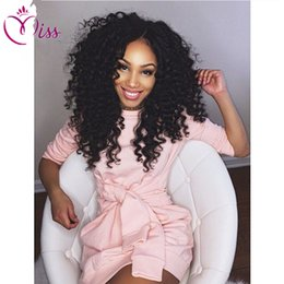 Deep Curly Indian Lace Wig Australia - Free Parting Full Lace Wigs With Baby Hair Lace Front Deep Curly Malaysian Wigs Human Hair With Bleached Knots For Black Women