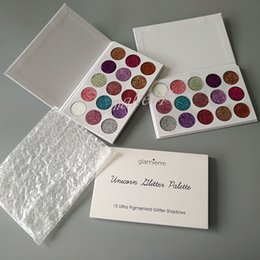 Nouvelles Couleurs Brillantes Pas Cher-EN STOCK!! 2017 Nouvelle marque Glamierre Unicorn Glitter Eyeshadow Palette 15 couleurs Maquillage Eye Shadow Palette DHL Livraison gratuite
