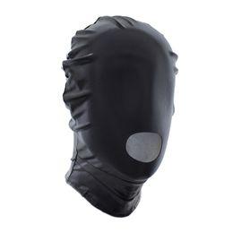 $enCountryForm.capitalKeyWord UK - Bondage Gear Costume BDSM Kit Costume Hood Mouth Open Design Black Red Color Free Shipping Head Mask Muzzle