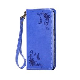Chinese  Magnetic Suck Flip Leather Case For Samsung Galaxy S7 S6 Edge Plus S4 S5 NOTE4 NOTE5 Bling Luxury Flower Strap Wallet Phone Pouch Cover 1pcs manufacturers