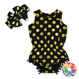 bubble rompers baby girls Canada - 12 colors gold polka dot romper,baby girls rompers,baby romper for girls,bubble romper,baby girl clothes,white and gold baby outfit