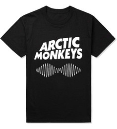 d39efc28b Arctic Monkeys Sound Wave Men T Shirts Indie Rock and Roll Hip Hop Cotton  Casual Crossfit Man T-shirt Plus Size Camisa Tees AMD010