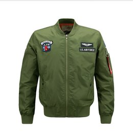 Mens Collared Jackets Canada - Military Clothing US Air Force MA1 Bomber Jackets Men Baseball Collar Flight Windbreaker Autumn Pilot Mens Jacket Varsity Homme Plus Size