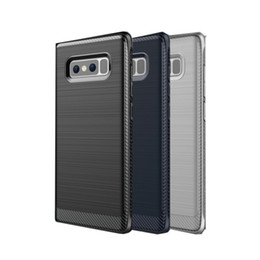 SamSung note original caSing online shopping - For Samsung Galaxy Note Original Case Soft Hybrid Carbon Fiber TPU Brushed Carbon Fiber Texture Back Cover Dirt resistant Protect Note8
