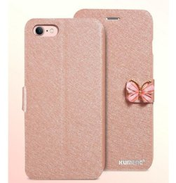 $enCountryForm.capitalKeyWord Canada - 1PCS iphone 6 6S plus Luxury case Flip Silk Print Crystal Rhinestone Butterfly Button Wallet Cases PU Cover with Stand Holder for iPhone 6s