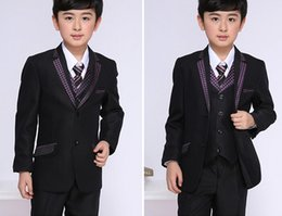 $enCountryForm.capitalKeyWord NZ - The new 2018 flower boy suit children's wear small suit suits spring wedding children suit (jacket+pants)+vest) custom made