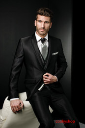 $enCountryForm.capitalKeyWord Canada - Unique Design Exquisite Dramatic Male Suits Peaked Lapel One Butten Tie Groomsman Tuxedos Men Wedding Suits handsome new design