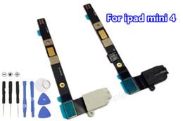 $enCountryForm.capitalKeyWord Canada - Black White New For iPad mini 1 2 3 mini 4 Headphone Earphone Audio Jack Flex Cable Ribbon Replacement parts 10pcs lot