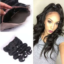 $enCountryForm.capitalKeyWord NZ - New Arrival 360 Lace Band Frontal Closure Free Middle 3 Part Raw Indian Human Hair Body Wave Lace Frontal Closure With Baby Hair