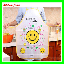 Wholesale Waterproof Oilproof Adult Kitchen Apron Pinafore Without Sleeve Lovely Cute Multi Cartoon Designs for Lady Cooking PVC Material