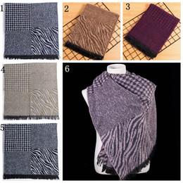Houndstooth Leopard Print Color Jacquard Imitation Cashmere Scarf Plaid Style Long Scarves Shawls 180135cm LJJY536