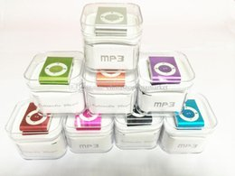 Discount sports gifts mp3 player - Christmas Gift Mini Clip MP3 Player With TF Card Insert Support To 8GB + USB+Earphone+Crystal Box