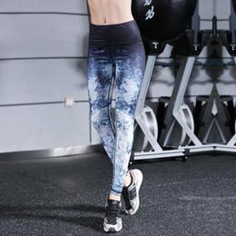 Bodycon Yoga Pants Canada - Silanda Sports Women Printed Beauty Yoga Gym Leggings Yoga Pants Super Elastic Sexy Slim Sports Fitness Leggings Bodycon Pencil Trousers