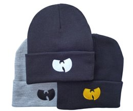 fallen hats Australia - Men Women Knitted Hats Stylish wutang Beanie hats Spring & Fall Winter Skull Caps Street Hip Hop Beanie Caps HF