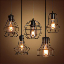 industrial pendant lighting fixtures. new arrivals retro iron pendant light loft lamps e27 birdcage led industrial lights hanging lamp fixture bar cafe restaurant store cheap lighting fixtures z