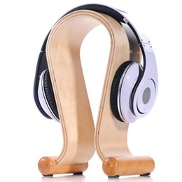 Wholesale 2015 New Wooden Omega Headphone Display Stand Stands Headphones Holder Headset Hanger for Brand headset headsets mate Free Ship