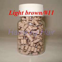 copper micro rings hair extensions Australia - 1000pcs bottle 3.0mmx2.6mmx6mm Micro copper Rings Links Beads For Hair Extensions tools 8 colors