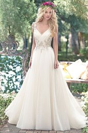 v neck spaghetti country wedding dresses with beading applique bodice 2016 spanish wedding bridal gown cheap