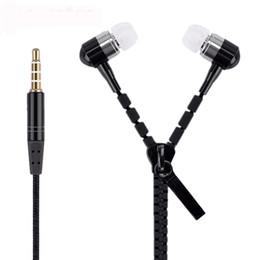 $enCountryForm.capitalKeyWord NZ - Zipper Earphones Headset 3.5MM Jack Bass Earbuds In-Ear Zip Earphone Headphone with MIC for Iphone 6 Plus Samsung S6 MP3 MP4 100pc
