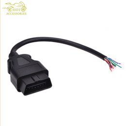 Discount obd diagnostic connector - Wholesale-OBD2 OBD-II OBD 2 ii 16 Pin Male Extension Connector Diagnostic Extender Opening Cable