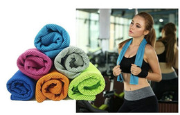 cooling towel wholesale Canada - 2016 Summer NEW PVA Cooling Ice Towel Soft Breathable Gym Yoga Towel 6 Colors Available Free Shipping