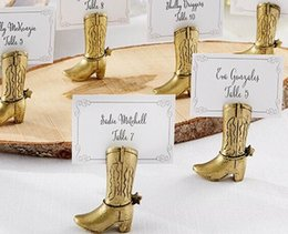boot places NZ - 200PCS Western Country Cowboy Boot Place Card Holders Wedding Decoration Gifts Party Table Supplies Bulk