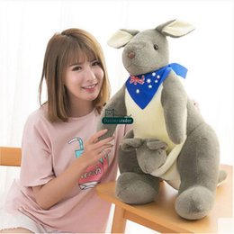 $enCountryForm.capitalKeyWord Canada - Dorimytrader pop big soft animal Australian Kangaroo plush doll stuffed cartoon animals toy gift for kids decoration 24inch 60cm DY61892