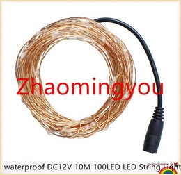 moon string lights NZ - YON waterproof DC12V 10M 100LED LED String Lights Christmas Fairy Lights 8 colors Copper Wire LED Starry Lights Wedding Decoration