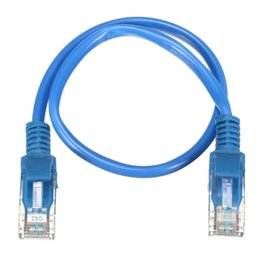 Discount laptop ide - Wholesale- 20cm RJ45 CAT5 Ethernet Cable Male to Male Patch Internet LAN Network Cable Wire Cord Lead Crystal Head Conne