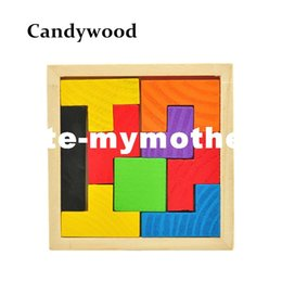 kids games educational UK - Wooden Tetris Game Educational Jigsaw Puzzle Toys Wood Tangram Brain-Teaser Puzzle Preschool Children Kids Toy
