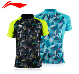 China Chinese dragon Li Ning badminton Shirt,men women polyester quick dry tennis Jersey,lining Badminton T-Shirts,badminton table tennis wear supplier blue chinese table suppliers