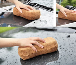 Discount car clean tools - 23 * 11.5CM High Quality Microfiber Super Clean Car Cleaning Sponge Cloth Cleaner Tools