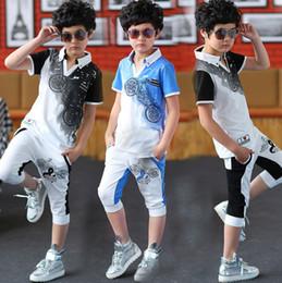 $enCountryForm.capitalKeyWord Canada - Boys 2018 summer new children's short-sleeved T-shirt sportswear suit big virgin Korean tidal summer explosion models 120--170