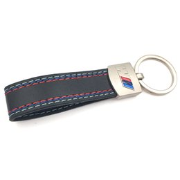 bmw e46 keys NZ - Auto Car Fashoin Metal+Leather Car Keychain Key Chain Key Ring Keyring For BMW M Tech M Sport M3 M5 X1 X3 E46 E39 E60 F30 E90 F10 F30 E36